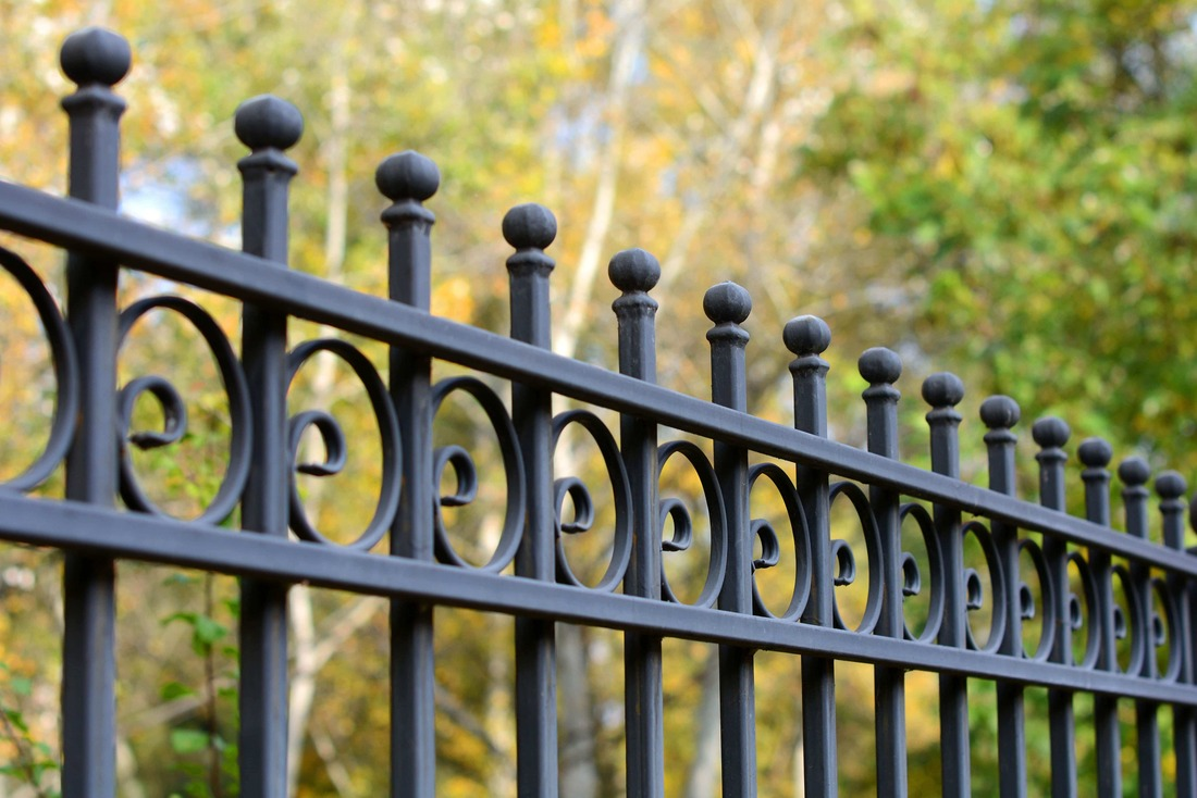 Farmborough Heights iron fence
